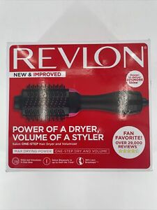 Revlon One Step Hair Dryer and Volumizer Pink/Black Open Box New Condition L1