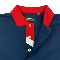 Orvis / Men's Blue Covered Placket Polo Shirt / Size M