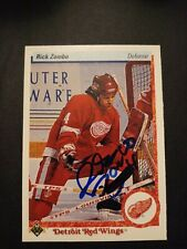 1990-91 Upper Deck Rick Zombo Red Wings Auto Autographed Signed Card