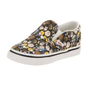 Vans Peanuts Charlie Brown Toddler Shoes Off The Wall Slip Ons Size 4.5