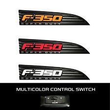 RECON 264286BK Ford LED F-350 2011-2016 White-Red-Amber Emblems Illuminated Side
