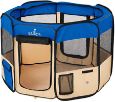 New listing Portable Foldable Pet playpen Exercise Pen Kennel + Carrying Case for Dogs