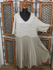 Túrbulence weites locker fallendes Kleid in weiß/beige NEU!!