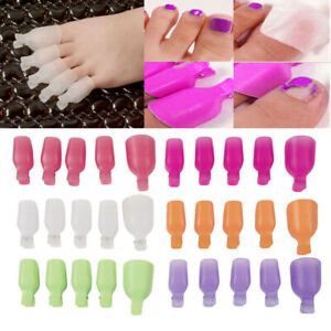 5 Pcs Plastic Toenail Soak Off Clip Caps Polish UV Gel Clamp Remover for Nail.
