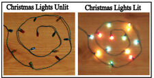 1/12, Dolls House Miniature 12x Christmas Lights Lamps xmas lighting baubles LGW