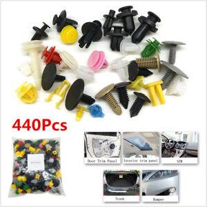 440 x Mixed Car Door Trim Panel Clip Fasteners Bumper Rivet Retainer Push Pins