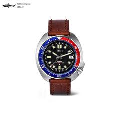 Men's Vintage Diver Watch 6105-8110 Turtle Homage Stainless Steel Pepsi Bezel