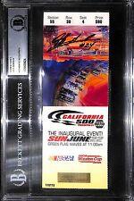 Jeff Gordon Signed NASCAR 1997 Inaugural California 500 Ticket BAS Beckett COA