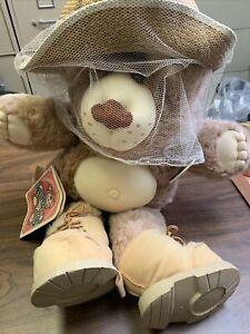 "Vintage FURSKINS BEAR BEE KEEPER BOONE Xavier Roberts Brown Plush 22"""
