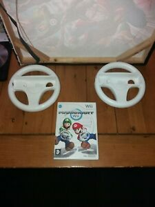 Nintendo Wii Mario Kart With 2 Official Wheels
