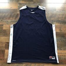 Vintage Men's Team Nike Blue / White Reversible Training Basketball Jersey 3Xlt