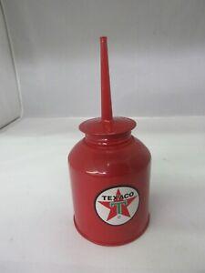 VINTAGE ADVERTISING TEXACO RED  OILER METAL OIL OILER  608-G