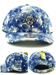 Los Angeles Kings LA Ladies Women New Mitchell & Ness Acid Wash Blue Era Hat Cap