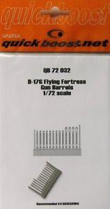 Quickboost 1/72  B-17G Flying Fortress Gun Barrels # 72032