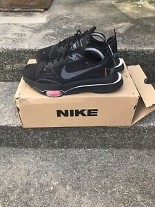 NIKE ZOOM TYPE TRAINERS SZ UK 8.5 AIR BLACK REFLECTIVE SILVER RED MAX N.354 £130