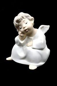 LLADRO 4539 MATTE Angel Thinking - No Box Hand Painted Porcelain Figurine C1254