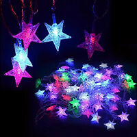 LED Star String Fairy Light Home Party Wedding Curtain Christmas Tree Decoration