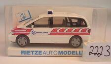 Rietze 1/87 50776 VW Sharan Sanität Zürich Schweiz OVP #2223