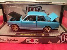 M2 Machines 1970 Datsun 510  1/24 scale NIB 1/4180  made blue exterior