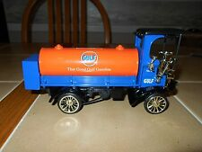 Ertl diecast Gulf Oil 1910 Mack tanker,1/25 scale,RARE SAMPLE,MINT,stock # H688