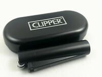 Clipper Metall schwarz matt Feuerzeug Box (ovp) Edel Design