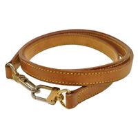 LOUIS VUITTON Leather Shoulder Strap 120cm LV Auth th263