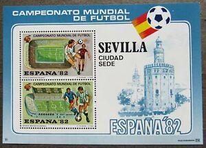 Spain 1982 Football World Championship, Souvenir Sheet, Sevilla