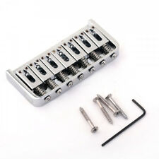 7-String Hardtail Fixed Electric Guitar Bridge Chrome