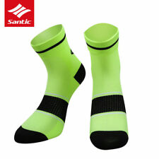 SANTIC Breathable Cycling Bicycle Socks Sport Running Socks One Pair Free Size