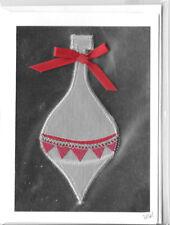 Christmas Holiday Cards 3D  Marjorie Lyon Handmade Silver Ornament Card