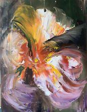 RicHter Iris ' Original Oil Painting On 1.5cm Canvas, Size 30cm X 40cm Abstract