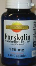 Pure Extreme 750mg FORSKOLIN Coleus Forskohlii 20% extract  180 Capsules