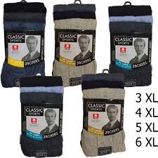 3,6,9,12 Pairs BIG SIZES Men Button Fly CLASSIC SPORT PLAIN BOXERS  2XL-6XL