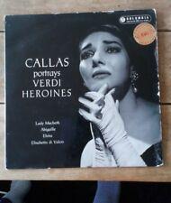 Callas Portrays Verdi Heroines LP Columbia SAX 2293 First Issue
