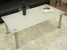 Ronald Schmitt Couchtisch Glas weiß 122x60 Cm