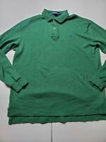 Polo Ralph Lauren Men's Size Medium green with cool Pullover Cotton Pony Sweater
