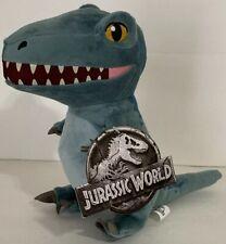 "Universal Studios Exclusive Parks Jurassic World 9"" Blue Velociraptor Plush New"