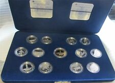 1992 CANADA SILVER 1/4 DOLLAR 25 CENTS X 12 CAMEO PROOF 125 ANNIVERSARY SET