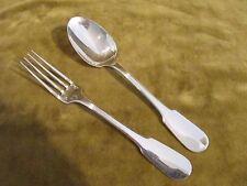 couvert à dessert  metal argente christofle cluny (dessert fork spoon) +