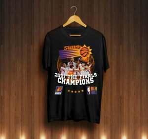 Phoenix Suns Champi0n T Shirt Funny Black Cotton Tee Vintage Gift For Men Women