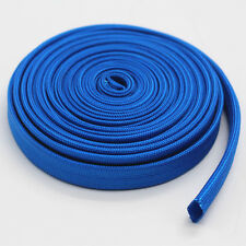 Vulcan Heat Protector Woven Sleeve Blue Spark Plug Wire High temp 1200F 25ft L