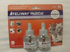 New listing Feliway Multicat 2 Refills For Cats 2 Months For Ceva Diffuser Ex 12/22 #3044