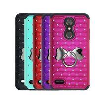LG K30 Case (T-Mobile), Studded Rhinestone Diamond Bling Case Bowknot Ring Stand