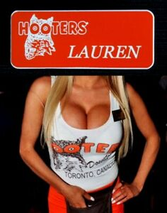 Hooters Uniform Lauren Name Tag Pin Back Dress Up Role Play Costume Accessory