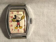 1940's Original Ingersoll U.S. Time Oblong Mickey Mouse Watch