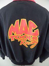 Vintage Mac Tools Racing Neon 1980s Swingster XL Zip Front Windbreaker Jacket