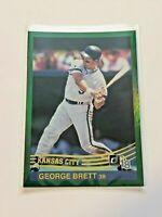 2018 Donruss Baseball Retro Holo Green Parallel - George Brett - Royals