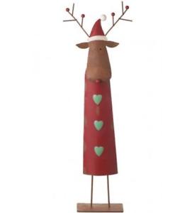 Metal Standing Christmas Reindeer Decoration - 50cm