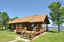 Lake of the Woods Minnesota Waterfront Lakehome Log CABIN + Outbuildings