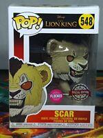 Disney Lion king Scar Flocked Pop #548 Vinyl Figure Funko Aus Seller